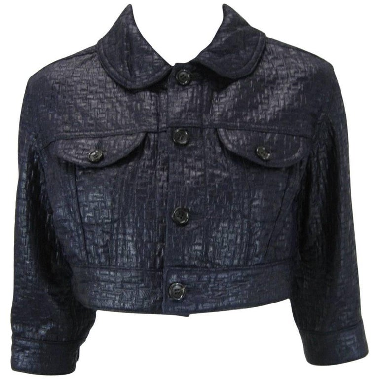 Comme des Garcons Cropped Navy Jacket 1