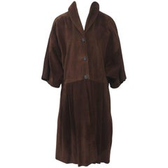 Miu Miu Brown Suede Coat