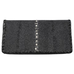 Hand Crafted Black Stingray Leather Artisan Wallet
