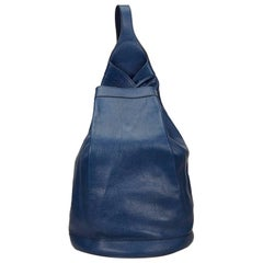 Hermes Blue Leather Sling Backpack