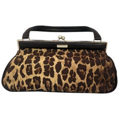 Dolce & Gabbana Women's Sicily Leopard-Print Leather Top Handle Satchel