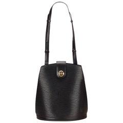 Louis Vuitton Black Epi Leather Cluny Bucket Shoulder Bag