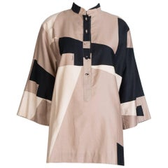 Catherine Ogust Printed Tunic Blouse