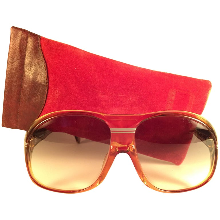 New Vintage Zeiss Marwitz Clear Amber Gradient Made W. Germany 1970 Sunglasses For Sale