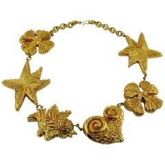 Christian Lacroix Vintage Massive Gold Toned Iconic Necklace