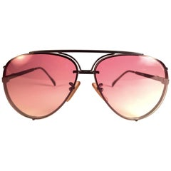 New Vintage Julio Iglesias Design Sunglasses Rose Gradient Lens 1980 Sunglasses