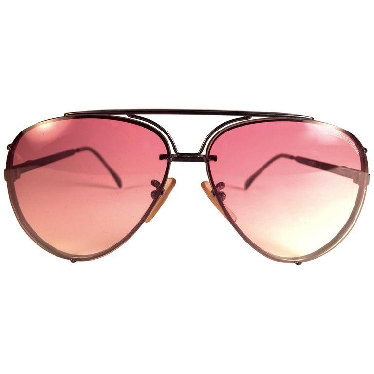 a79f4966948 New Vintage Julio Iglesias Design Sunglasses Rose Gradient Lens 1980  Sunglasses For Sale
