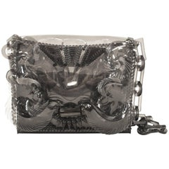 Opening Ceremony Clear Soft Plastic Shoulder Bag with Plastic Chain Strap