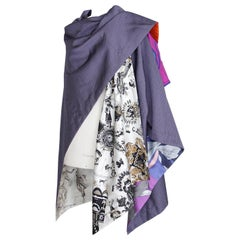 Hermes Cape One of a Kind Petit H Cape Wrap Scarf Combined Iconic Prints