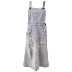 Comme des Garcons Robe de Chambre Distressed Denim Dungaree Dress 2005