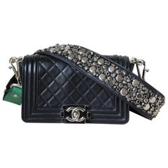 Chanel Metiers D'Art Quilted Bombay Jewel Encrusted Strap Boy Bag