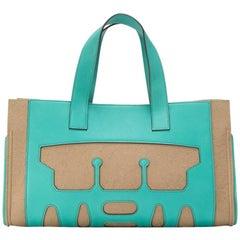 Hermes Turquoise Petite H Skeleton Tote Bag - Rare