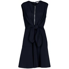 Carven Navy Sleeveless Zip Front Dress sz S