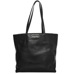 Miu Miu Black Leather Tote Bag