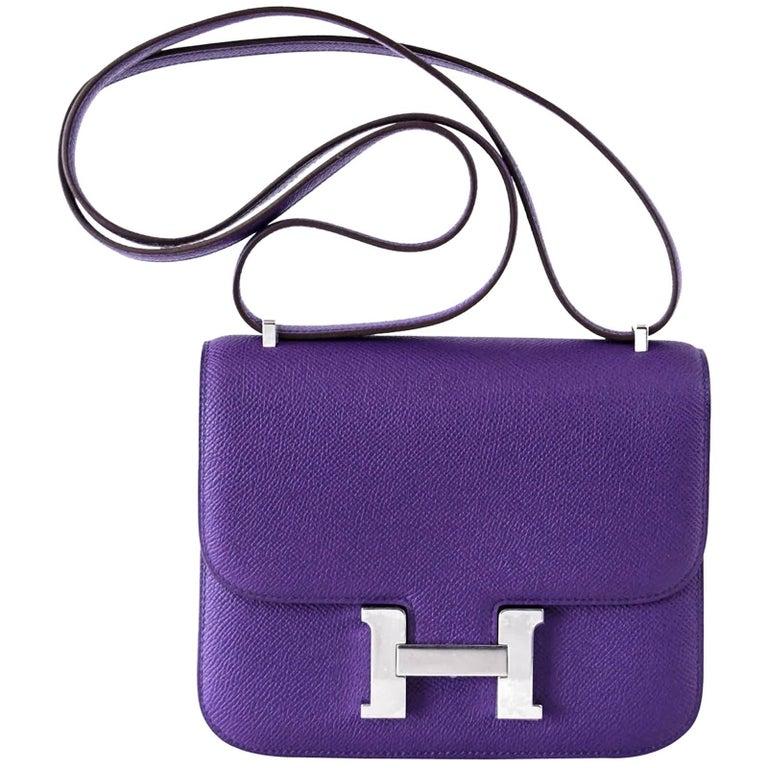 Hermes Constance 18 Mini Very Rare Crocus Purple Epsom Palladium