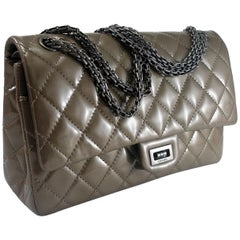 Chanel Taupe Patent Leather 2.55 Reissue Flap Bag