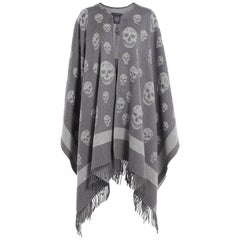 Alexander McQueen Big Skull Cape - Grey