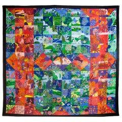 Hermes Multi-Colored Tree Print Cotton Pareo Wrap/Scarf