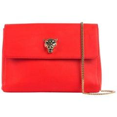 Roberto Cavalli Womens Sea Red Leather Cosmetic Bag