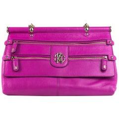 Roberto Cavalli Womens Pink Grande Doctor Satchel Shoulder Bag