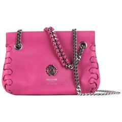 Roberto Cavalli Women's Orchid Pink Leather Mini Crossbody Bag