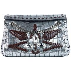 Roberto Cavalli Women's Metallic Leather Mini Crossbody Bag