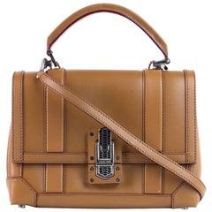 Roberto Cavalli Women's Solid Tan Leather Satchel Bag