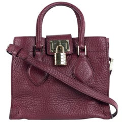 Roberto Cavalli Women's Garnet Red Textured Leather Satchel