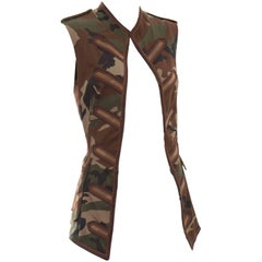 Jean Paul Gaultier Cotton Camouflage Vest, Spring - Summer 2008