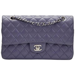 2011 Chanel Lavender Quilted Lambskin Medium Classic Double Flap Bag