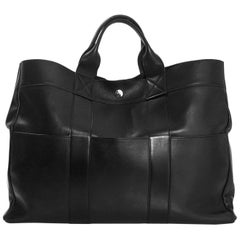 Hermes Black Swift Leather Fourre-Tout MM Tote Bag rt. $4,000