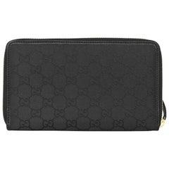 Gucci Monogram GG Nylon Zip Around Wallet with Box