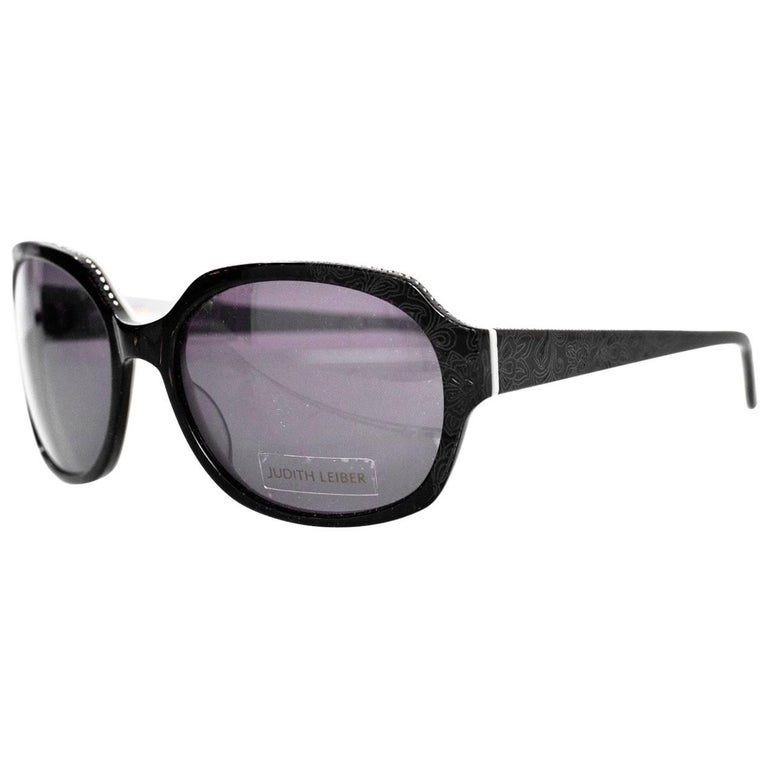 4c3fadc87ce Judith Leiber JL1169 Black Swarovski Crystal Sunglasses with Case For Sale  at 1stdibs