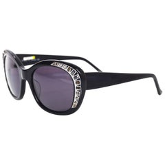 Judith Leiber JL1623 Black Deja Vu Crystal Sunglasses
