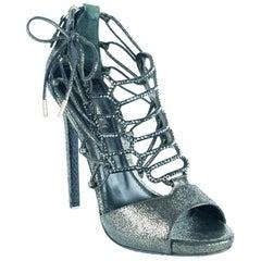 Roberto Cavalli Women's Glitter Embellished High Heels