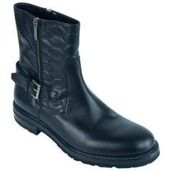 Roberto Cavalli Men's Black Leather Ankle Boots