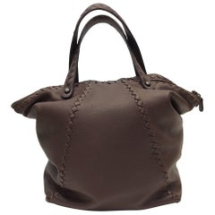 Bottega Vennetta Large Braided Brown Purse
