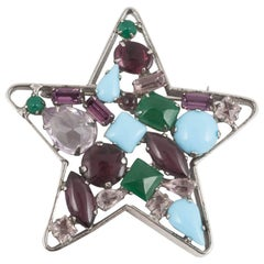 Quirky 'star' brooch,  Schreiner of N.Y., 1960s.