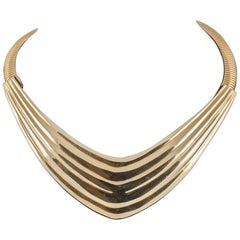 Sculpted gilt collar, Alexis Kirk, New York, 1980s