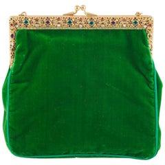 Jewelled framed velvet handbag, 1920s