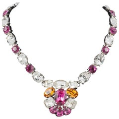 Beautiful coloured paste necklace, Coro, 1950s