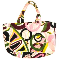 Emilio Pucci Terry Cloth Tote Bag