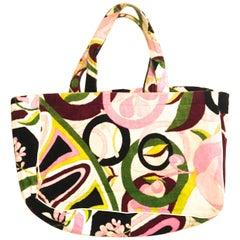 Emilio Pucci Terry Cloth Tote Bag