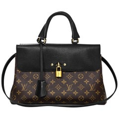 Louis Vuitton Monogram/ Noir Leather Venus Tote Bag with DB