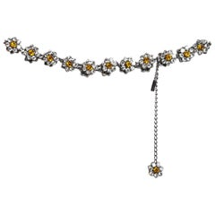 Dolce & Gabbana '90s Crystal Flower Belt