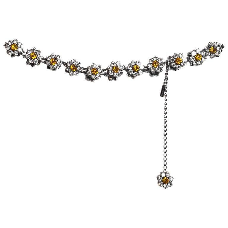 Dolce & Gabbana '90s Crystal Flower Belt