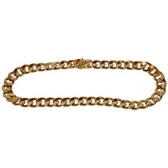Heavy Gilded Gold Polished Vermeil Chain-Link Necklace