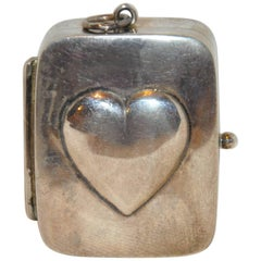"""Sterling Silver """"Heart"""" Self-Wind Musical Pendant"""