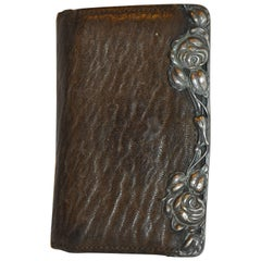 BuffaloSkin Wallet Detailed with Swirls Of Floral Sterling Silver Accent
