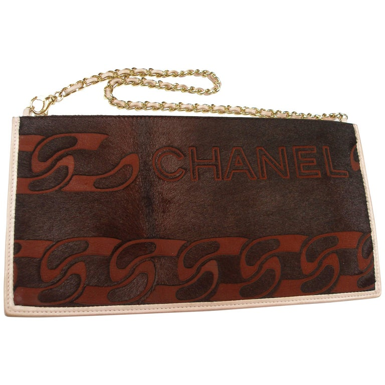 RARE 2000's  Chanel Logo Clutch / Good Condition